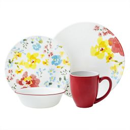 Cheerful Garden Dinnerware Set, Service for 4