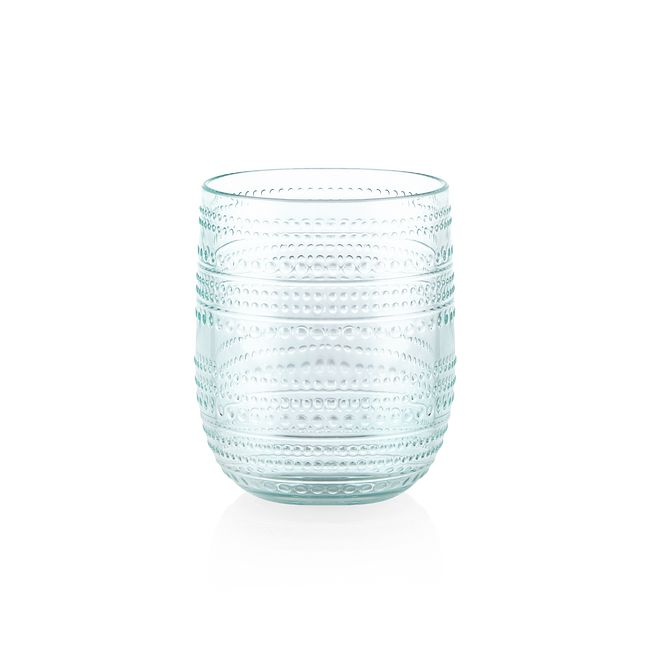 Aqua Beaded 15-ounce Acrylic Stemless Drinkware