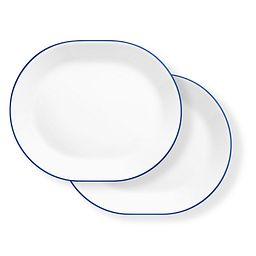 "Breathtaking Blue 12.25"" Serving Platter Set, 2 pack"
