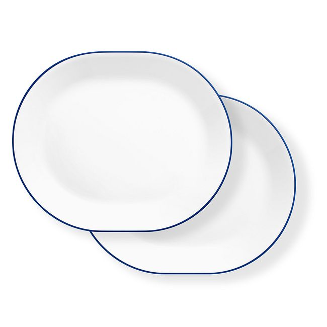 "Breathtaking Blue 12.25"" Serving Platters, 2-pack"