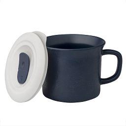 20-oz Hammered Midnight Meal Mug™ w/ Vented Lid