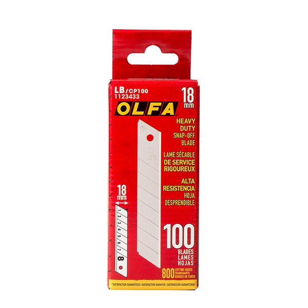 18mm HD Silver Snap-Off Blade (LB/CP100)