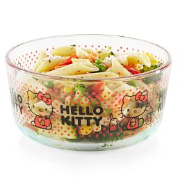 Hello Kitty® 4-cup Decorated Storage Dotted Storage Container with pasta inside