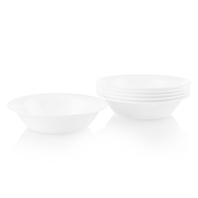 Dazzling White 19-ounce Bowls, 6-pack