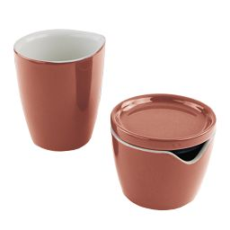 Corningware Red Clay Cream and Sugar Set