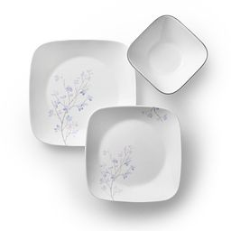 Square Jacaranda 18-pc Dinnerware Set Top View