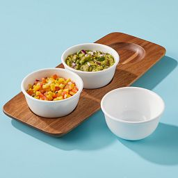 Coordinates Large Dip Tray Set with food in bowls