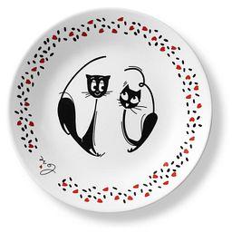 "Loving Cats Pounce 6.75"" Appetizer Plate"
