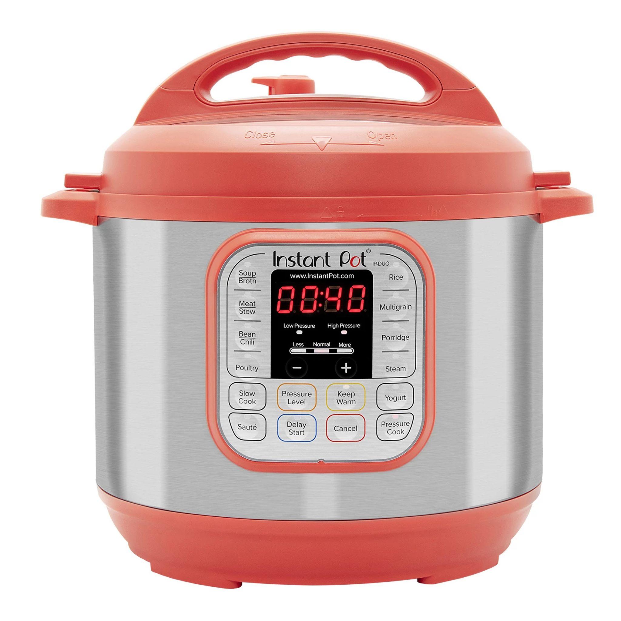 Instant Pot Duo 6-quart Multi-Use Pressure Cooker, Red