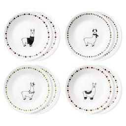 """Llama 6.75"""" Appetizer Plates, 8-pk"""