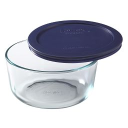 Simply Store® 4 Cup Round Storage Dish w/ Blue Lid