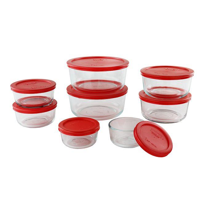 Simply Store 16-pc Storage Set w/ Red Lids
