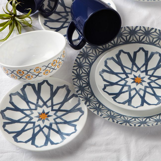 Signature Amalfi Azul 16-pc Dinnerware Set
