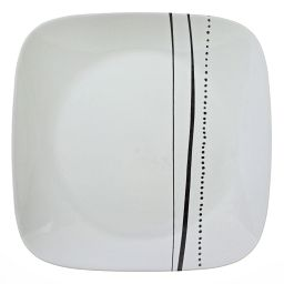 Square Cascading Lines Dinner Plate