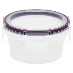 Total Solution™ Plastic Food Storage 1.21 Cup  Round with lid on and closed