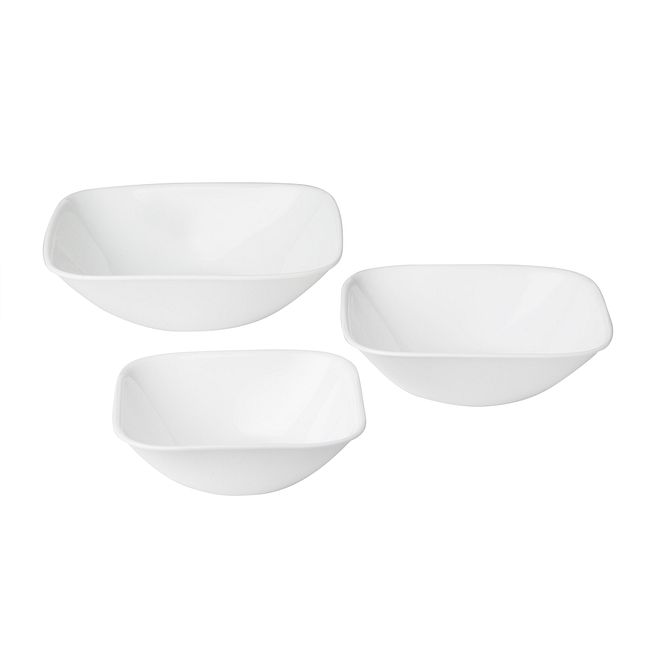 Vivid White 3-piece Serving Bowl Set