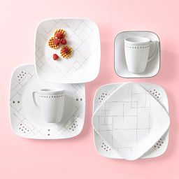 Raya 16-piece Dinnerware Set on the table