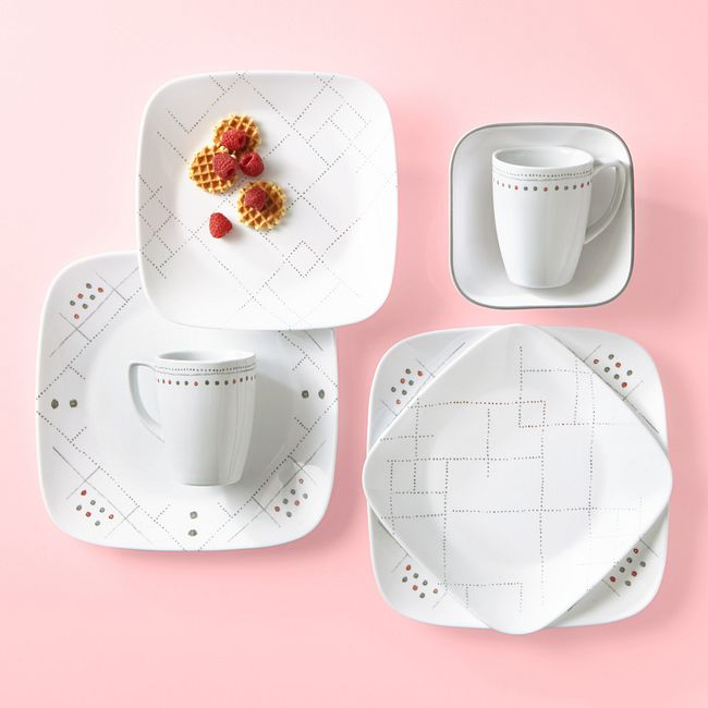 Raya 16-piece Dinnerware Set, Service for 4