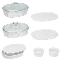 French White® 10-pc Oval Bakeware Set