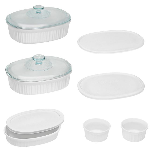 French White 10-piece Bakeware Set