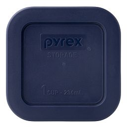 1 Cup Square Storage Plastic Lid  Blue