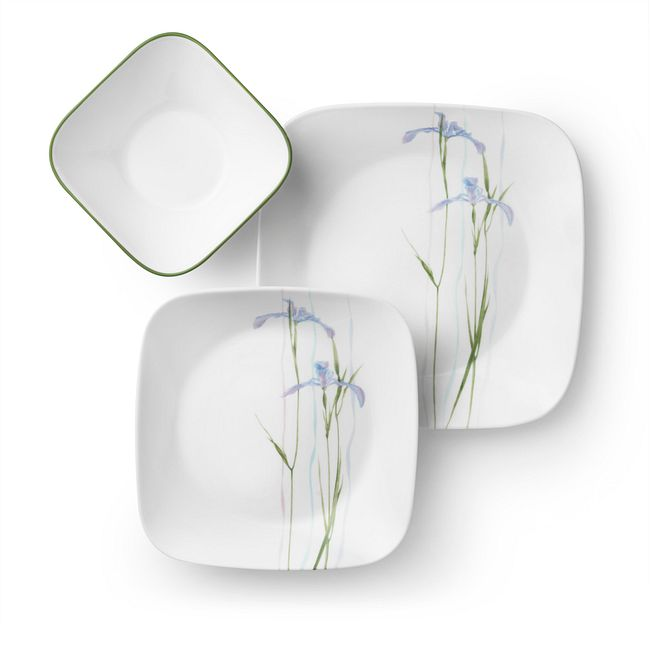 Shadow Iris 18-piece Dinnerware Set, Service for 6