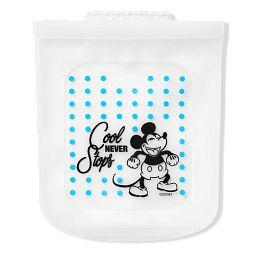 Half Gallon (2-qt) Silicone Storage Bag: Disney Mickey Mouse (blue dots)