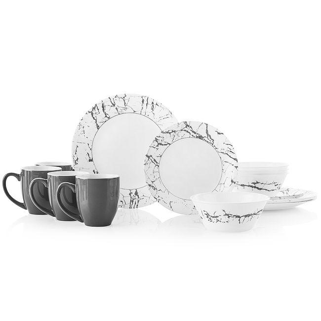 Stone Grey 16-piece Dinnerware Set, Service for 4