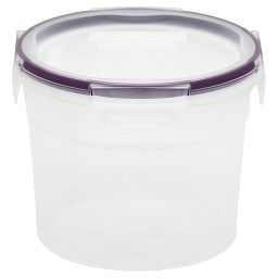 Plastic Food Storage with Lid 7.44 Cup  Round with Purple Lid