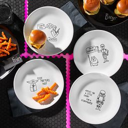 """8.5"""" Salad Plates 8-pk Set: Star Wars™ on the table with food"""
