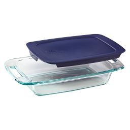 Easy Grab 2-qt Oblong Baking Dish w/ Blue Lid