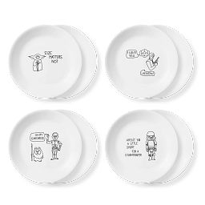 "8.5"" Salad Plates 8-pk Set: Star Wars™"
