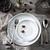 Mystic Gray 16-pc Dinnerware Set on Table