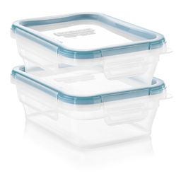 Total Solution™ Plastic Food Storage 2 Pack  Rectangle front view