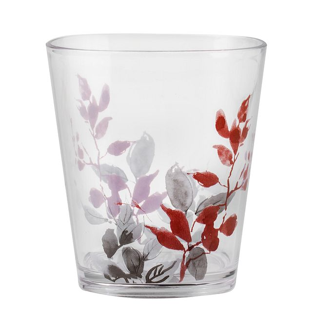 Kyoto Leaves 14-ounce Acrylic Drinking Glass