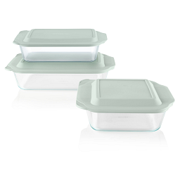 Deep 6-pc Baking Dish Set with Sage Lids