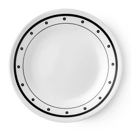 "Livingware™ Beads 6.75"" Plate   Black  &  White"