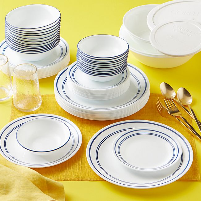 Classic Café Blue 78-piece Dinnerware Set, Service for 12