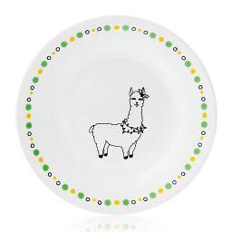 "Falalala Llama Olive 6.75"" Appetizer Plate"