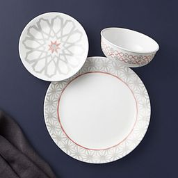 Amalfi Rosa 18-piece Dinnerware Set, Service for 6 on the table