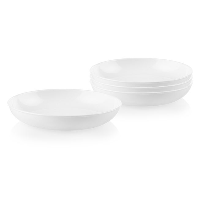 Winter Frost White 30-ounce Versa Meal Bowls, 4-pack