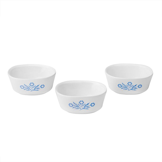 60th Anniversary Cornflower 3-pc Ramekin Set