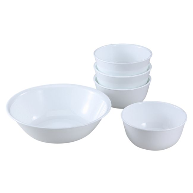 Livingware Winter Frost White 5-pc Snack Set