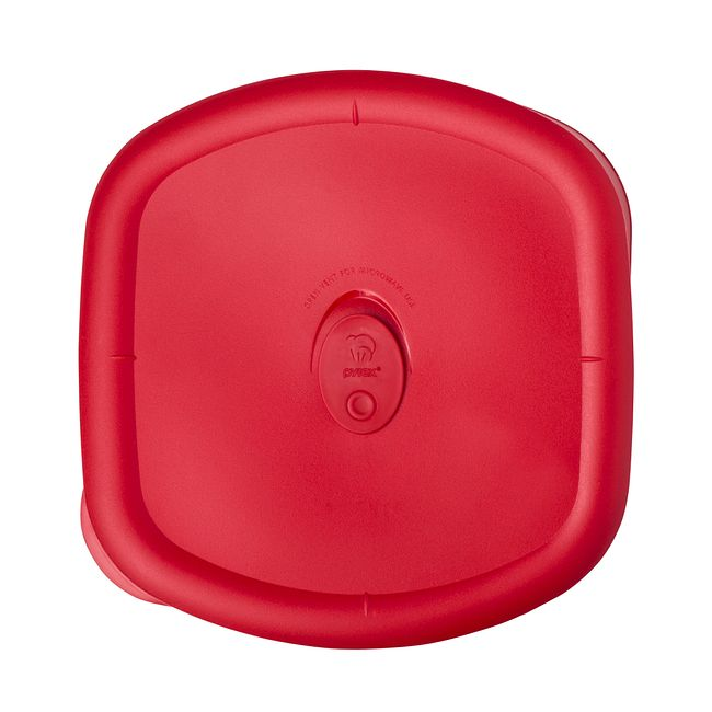 Red Lid for 3-quart Glass Food Storage Container