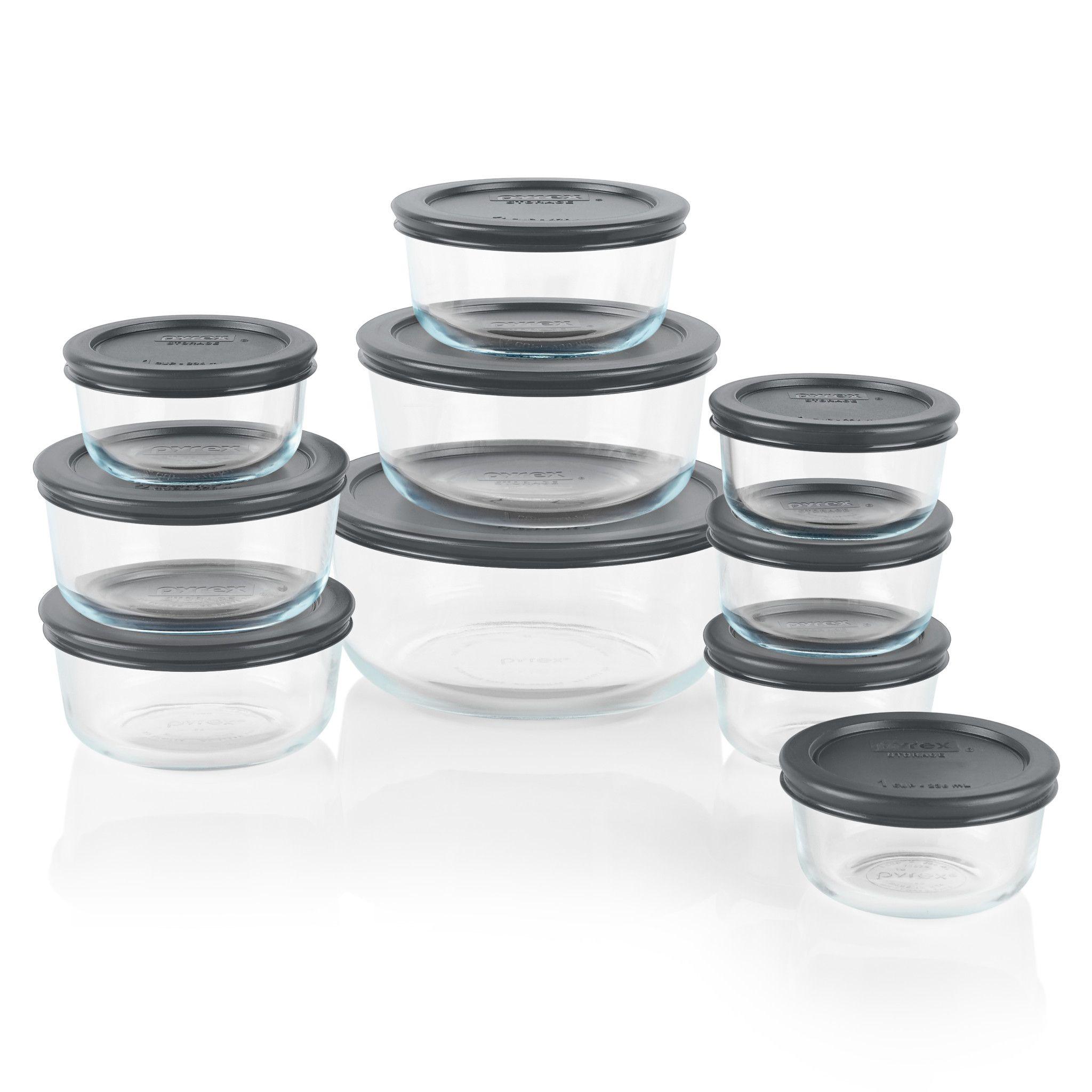 Simply Store 174 20 Pc Set W Gray Lids Corningware