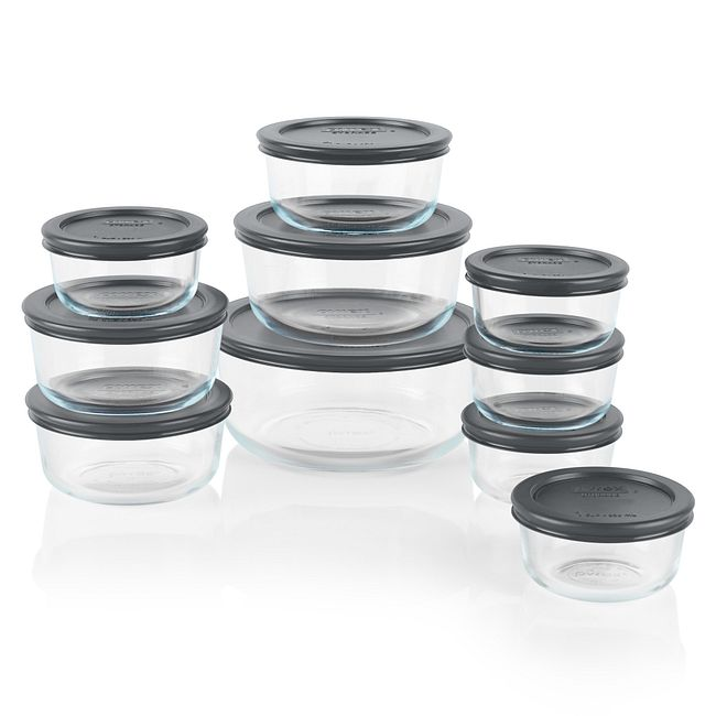 Simply Store® 20-pece Set with Gray Lids