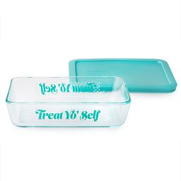 Simply Store® 3 Cup 'Treat Yo Self' Rectangle Storage Dish w/ Plastic Lid