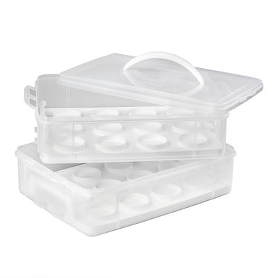 Snapware Snap 'n Stack Enter-Tainers 2 Layer Cookie, Cake & Brownie Carrier