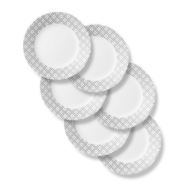 "Farmstead Gray 11"" Dinner Plates, 6-pack"