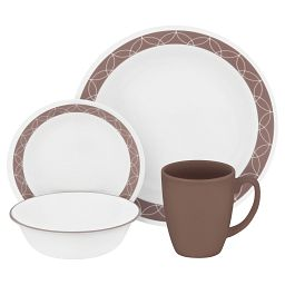 Sand Sketch 16-piece Dinnerware Set, Service for 4 - front view